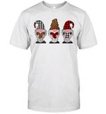 Three Gnomes Holding Hearts Leopard Valentine's Day Gift Shirt
