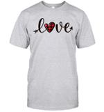 Love Red Buffalo Plaid Heart Arrow Gift Valentine's Day Shirt