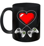 Valentine's Day Video Game Controller Heart Gamer Gift Mug