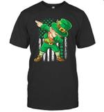 Dabbing Leprechaun Irish American Flag St Patrick's Day Shirt