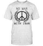 No War With Iran Peace Sign Iranian American Shirt