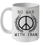 No War With Iran Peace Sign Iranian American Mug