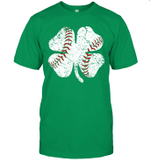 Baseball St Patricks Day Gift Boy Men Catcher Shamrock Shirt
