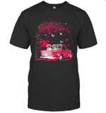 Couple Shih Tzu Dog Truck Valentine's Day Shirt