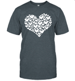 Filled With Hearts Valentine's Day Sketch Heart Shirt
