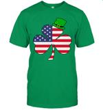 Irish American Flag Shamrock St Patricks Day Shirt