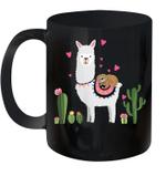 Sloth Riding Llama Valentines Day Hearts Love Mug