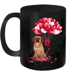 Puggle With Love Balloons And Valentine's Day Mug