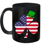 Irish American Flag Shamrock St Patricks Day Mug