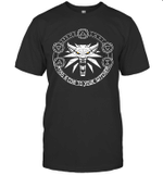 Toss A Coin Wolf Witchers Graphic Shirt