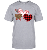 Hearts And Arrows Leopard Plaid Valentine's Day Shirt