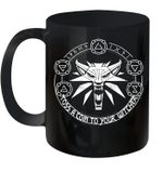 Toss A Coin Wolf Witchers Graphic Mug