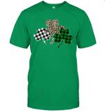 Irish Shamrocks Leopard Buffalo Plaid St Patrick's Day Shirt