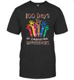 Autism Awareness Embrace Differences 100 Days Of School Shirt