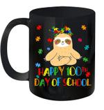 Sloth 100th Day Of School Teacher Autism Awareness Gifts Mug
