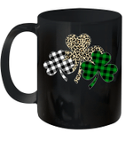 Irish Shamrocks Leopard Buffalo Plaid St Patrick's Day Mug