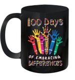 Autism Awareness Embrace Differences 100 Days Of School Mug