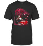 Gnomes Red Truck Tree Valentine's Day Gift Shirt