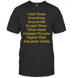 Cash Rules Everything Around Me Except When Other Asset Funny Shirt