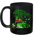 Green Gnomes Truck Shamrock Happy Saint Patrick's Day Mug