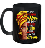 Black History Month African Afro I Am The Storm Mug
