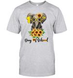 Sunflower Elephant Glasses 100th Day Of School Teacher Shirt