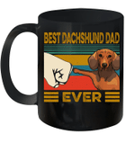Best Dachshund Dad Ever Retro Vintage Mug
