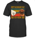 Best Dachshund Dad Ever Retro Vintage Shirt
