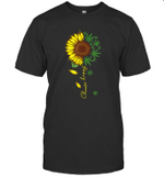 Choose Happy Sunflower And Weed Hippie Peace Shirt