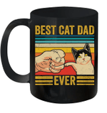 Best Cat Dad Ever Bump Fit Vintage Retro Mug