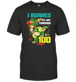 I Roared My Way Through 100 Days Dinosaur T-Rex For Kids Shirt