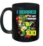 I Roared My Way Through 100 Days Dinosaur T-Rex For Kids Mug