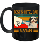 Best Shih Tzu Dad Ever Retro Vintage Mug
