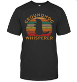 Groundhog Whisperer Silhouette Vintage Gift Ground Hog Day Shirt
