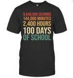 100th Day Preschool Kids Teacher Retro 100 Days Of School Shirt