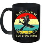 Don't Follow Me I Do Stupid Things Scuba Retro Vintage Mug
