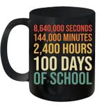 100th Days Preschool Kids Teacher Retro 100 Days Of School Mug