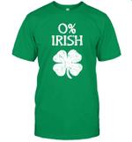 0% Irish St Patrick's Day Graphic Funny Shirt