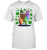 Leprechaun Sloth Riding Llama Unicorn St Patrick's Day Shirt