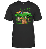 Leprechaun Driving Green Truck Cat St Patrick's Day Gift Shirt