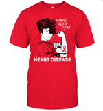 CHD Mom I Wear Red To Fight Heart Disease Awareness Shirt