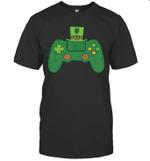 St Patricks Day Gamer Shirt Irish Game Controller Gaming Boy