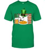 Saint Patricks Confused Cat Meme St Patrick's Day Smudge Shirt