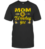 Mom Of The Birthday Girl Sunflower Funny Shirt