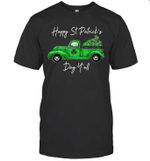 Green Truck With Shamrocks Happy St Patrick's Day Y'all Shirt