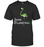 Funky Irish Flamingo Green Bird St Patricks Day Shirt