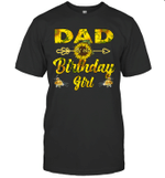 Dad Of The Birthday Girl Sunflower Funny Shirt