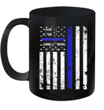 Thin Blue Line Irish Shamrock Police St Patrick's Day Mug