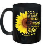 Sunflower I Can Do All Things Through Christ Who Strengthens Me Philippians Mug