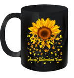 Sunflower Accept Understand Love Autism Awareness Gift Mug